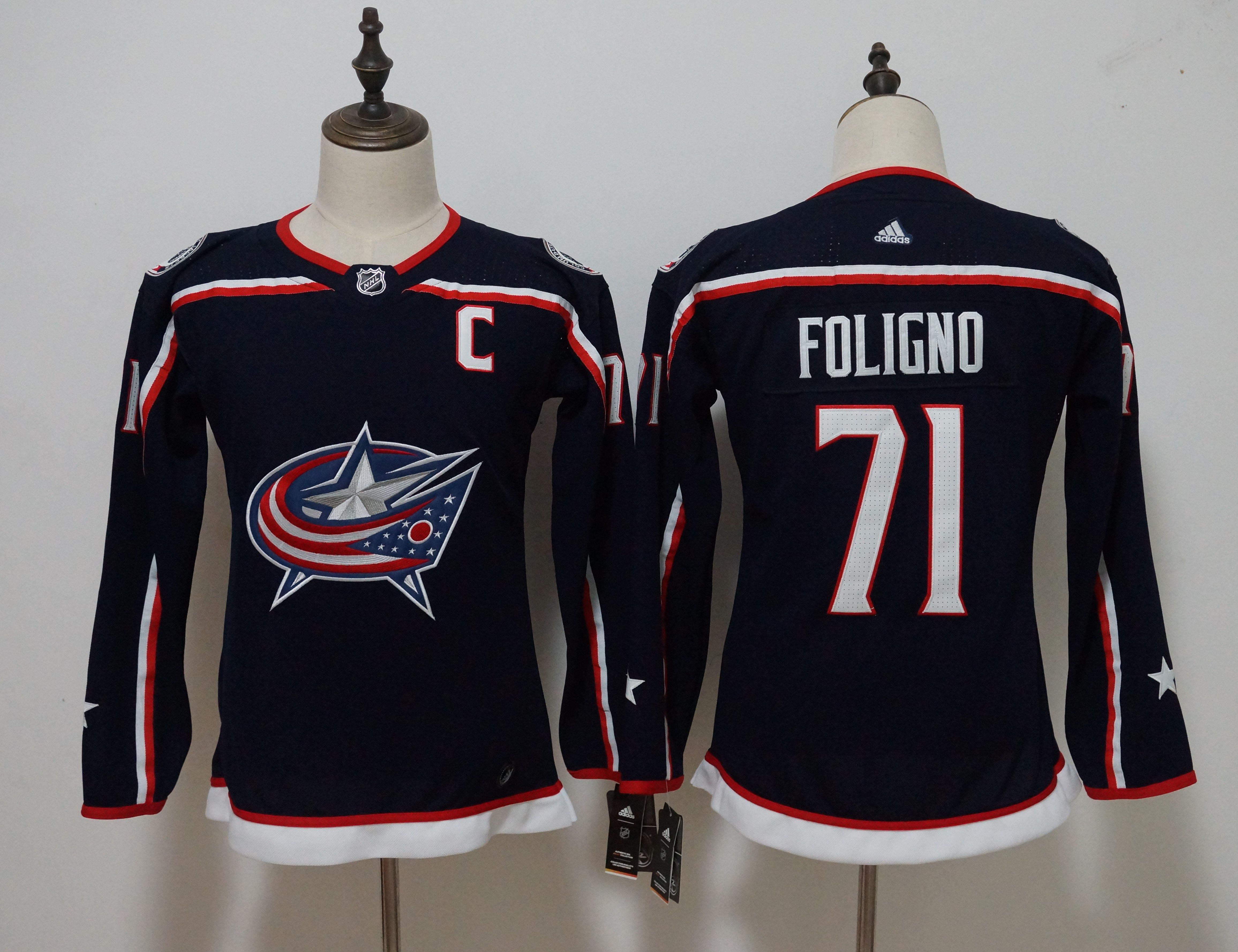 3f2ac41b4 ... reduced 77 josh anderson navy blue home authentic stitched nhl jersey  45.00. women columbus blue