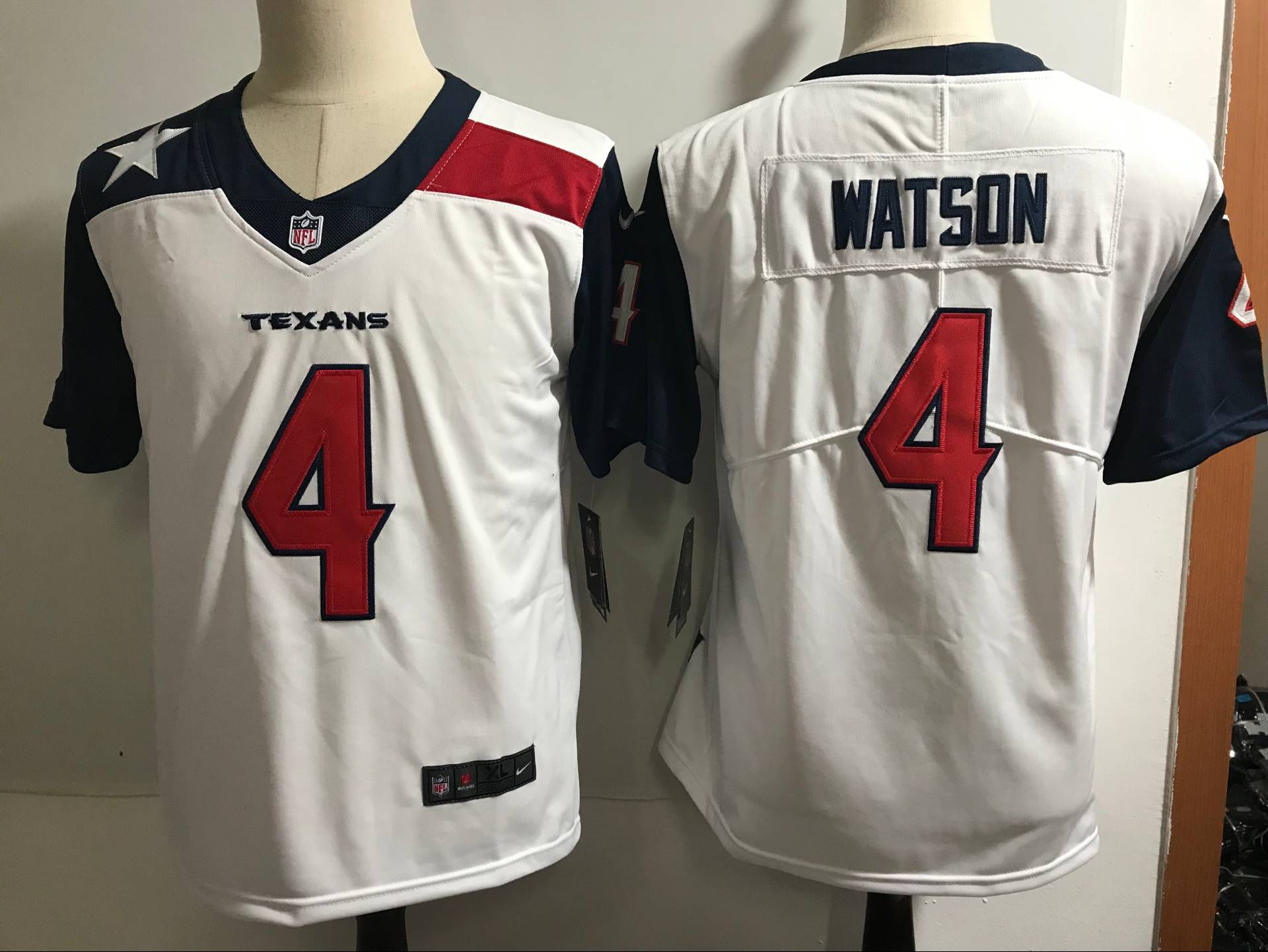 Women Houston Texans 4 Watson White Nike Color Rush Limited NFL Jerseys