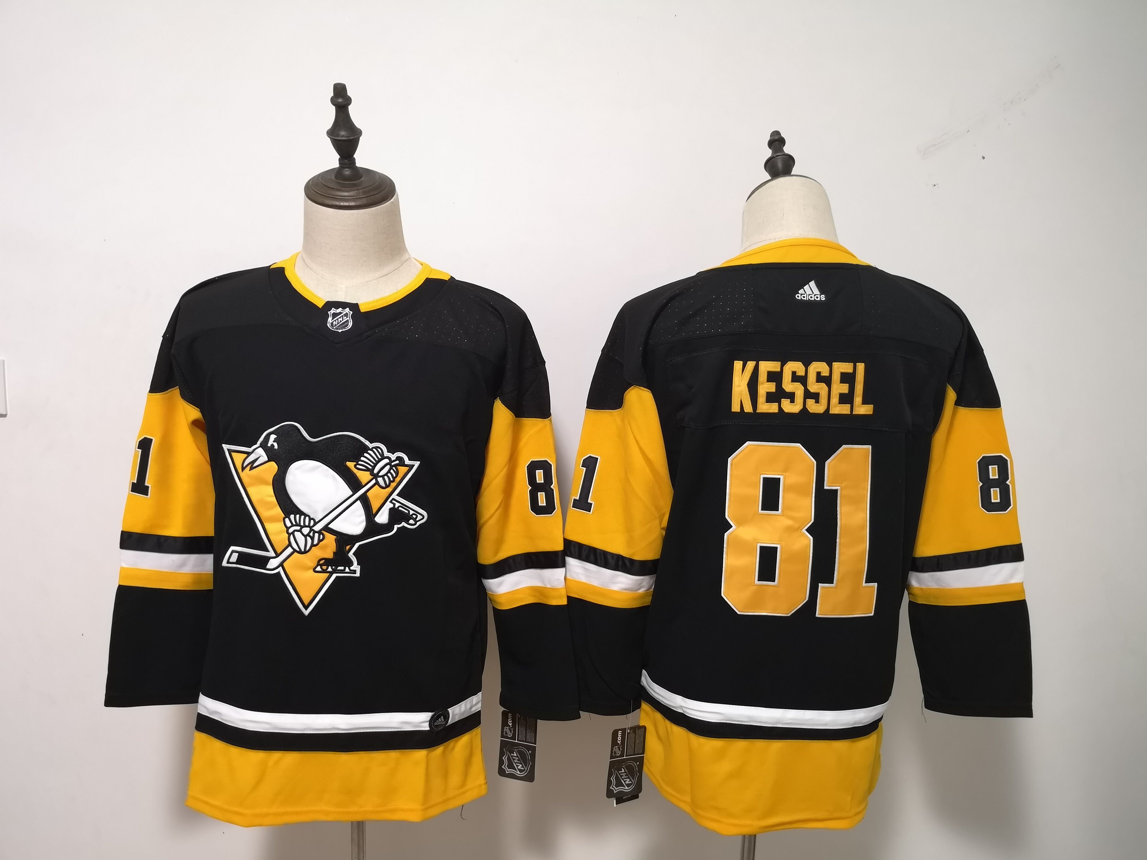 Women Pittsburgh Penguins 81 Kessel Black Hockey Stitched Adidas NHL Jerseys