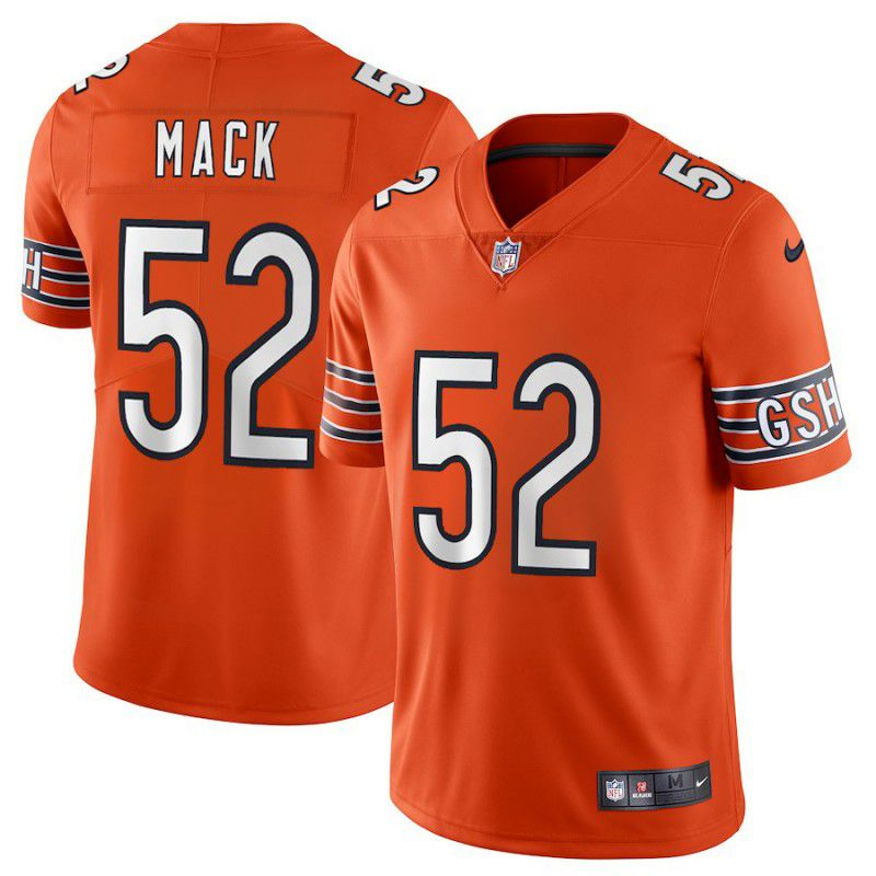 Youth Chicago Bears 52 Mack Orange Nike Vapor Untouchable Player NFL Jerseys