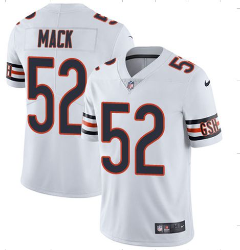 Youth Chicago Bears 52 Mack White Nike Vapor Untouchable Player NFL Jerseys