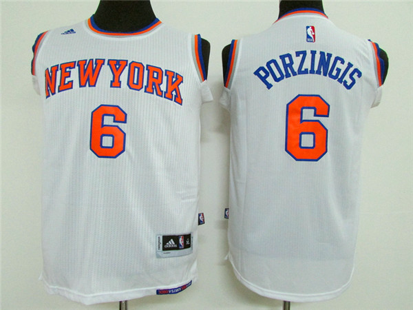 Adidas NBA New York Knicks Youth 6 Porzingis white Jerseys