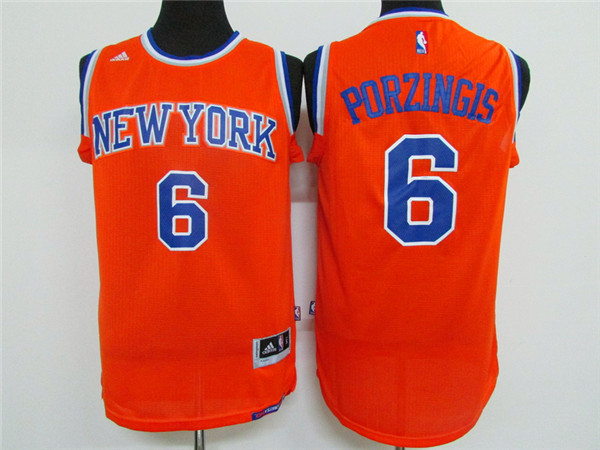 Adidas New York Knicks Youth 6 Porzingis orange NBA jerseys
