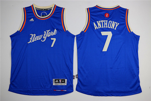Adidas New York Knicks Youth 7 Anthony blue NBA jerseys