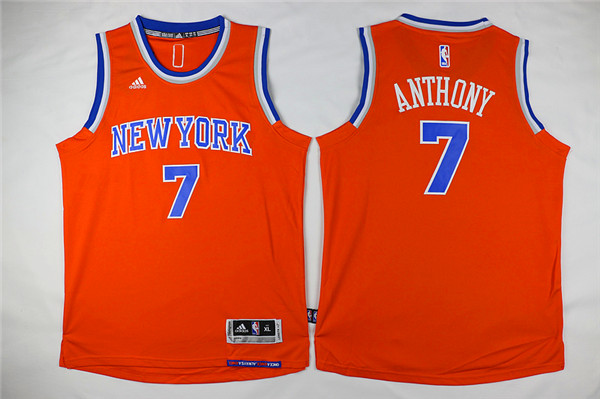 Adidas New York Knicks Youth 7 Anthony orange NBA jerseys