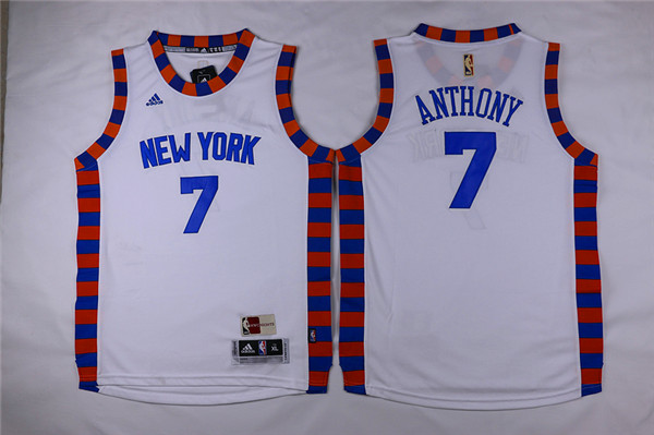 Adidas New York Knicks Youth 7 Anthony white NBA jerseys