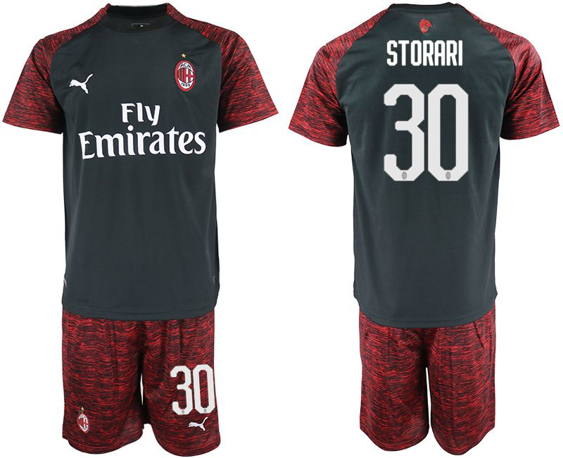 Men 2018-2019 club AC milan Second away 30 black soccer jerseys