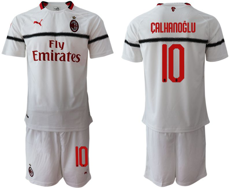 Men 2018-2019 club AC milan away 10 white soccer jerseys