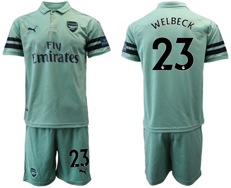 Men 2018-2019 club Arsenal away 23 green soccer jersey