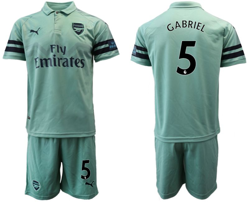 Men 2018-2019 club Arsenal away 5 green soccer jersey