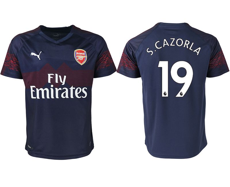 Men 2018-2019 club Arsenal away aaa version 19 blue Soccer Jerseys