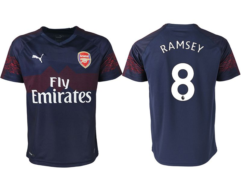 Men 2018-2019 club Arsenal away aaa version 8 blue Soccer Jerseys