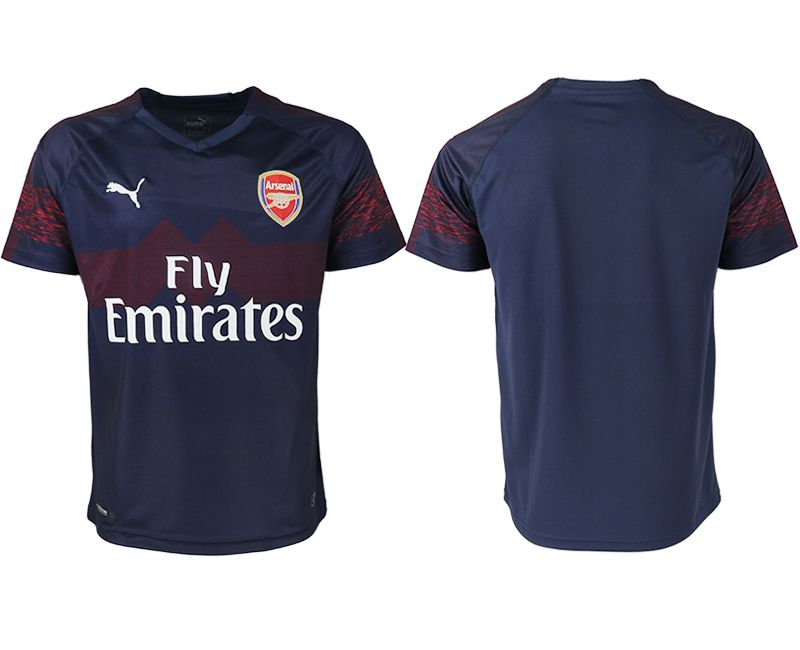 Men 2018-2019 club Arsenal away aaa version blank blue Soccer Jerseys