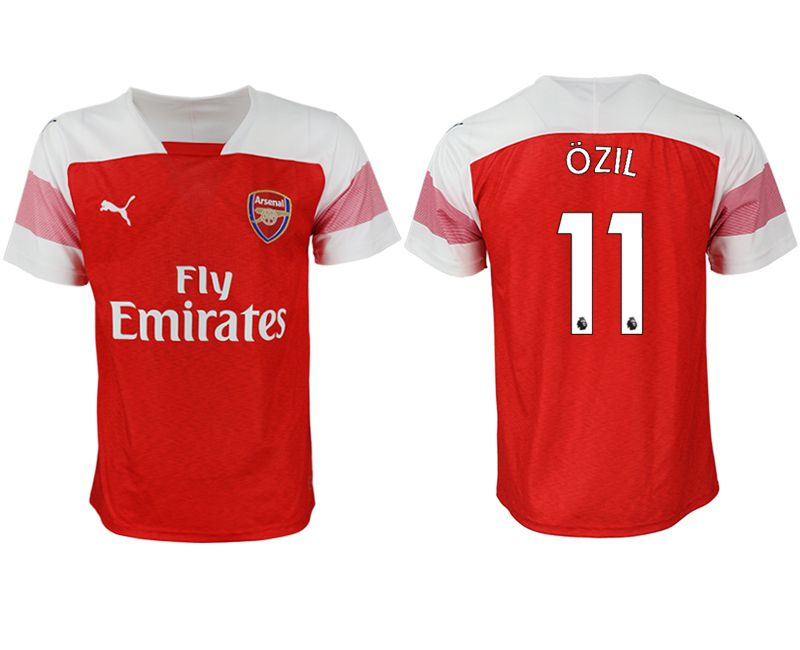 Men 2018-2019 club Arsenal home aaa version 11 red Soccer Jerseys