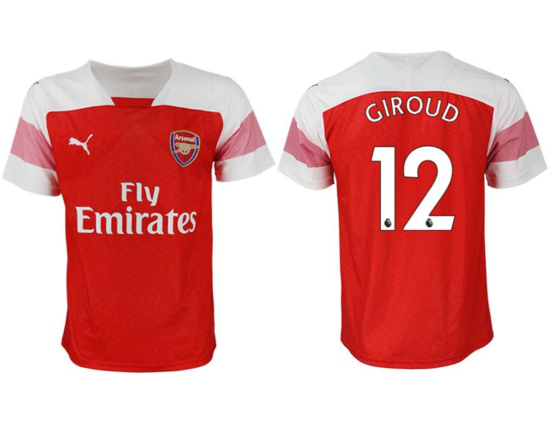 Men 2018-2019 club Arsenal home aaa version 12 red Soccer Jerseys