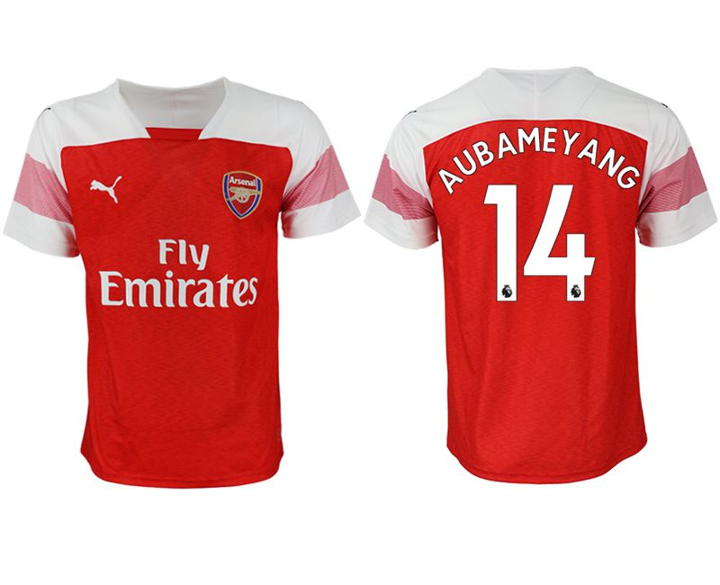 Men 2018-2019 club Arsenal home aaa version 14 red Soccer Jerseys