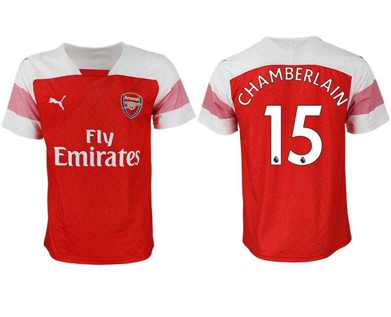 Men 2018-2019 club Arsenal home aaa version 15 red Soccer Jerseys