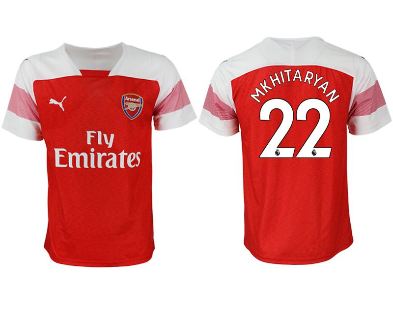 Men 2018-2019 club Arsenal home aaa version 22 red Soccer Jerseys