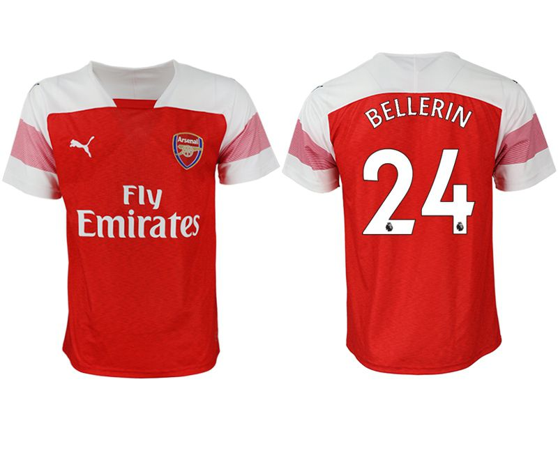 Men 2018-2019 club Arsenal home aaa version 24 red Soccer Jerseys