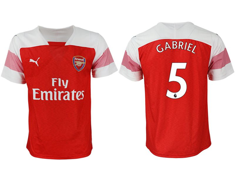 Men 2018-2019 club Arsenal home aaa version 5 red Soccer Jerseys