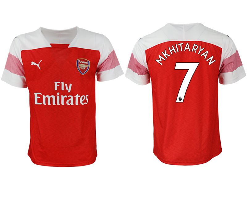 Men 2018-2019 club Arsenal home aaa version 7 red Soccer Jerseys