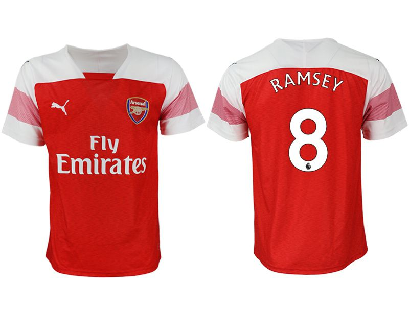 Men 2018-2019 club Arsenal home aaa version 8 red Soccer Jerseys