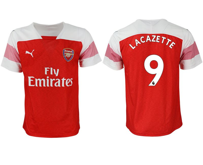 Men 2018-2019 club Arsenal home aaa version 9 red Soccer Jerseys