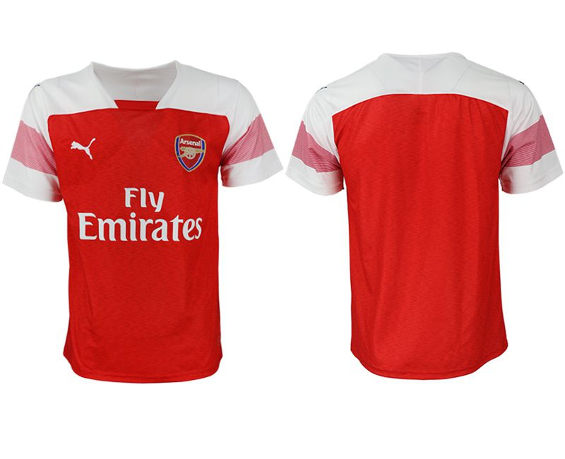 Men 2018-2019 club Arsenal home aaa version blank red Soccer Jerseys