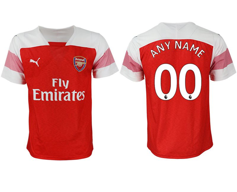 Men 2018-2019 club Arsenal home aaa version customized red Soccer Jerseys