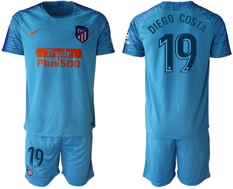 Men 2018-2019 club Atletico Madrid away 19 blue soccer jersey1
