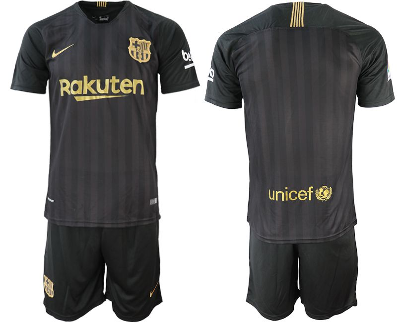 Men 2018-2019 club Barcelona Black training suit black soccer jerseys