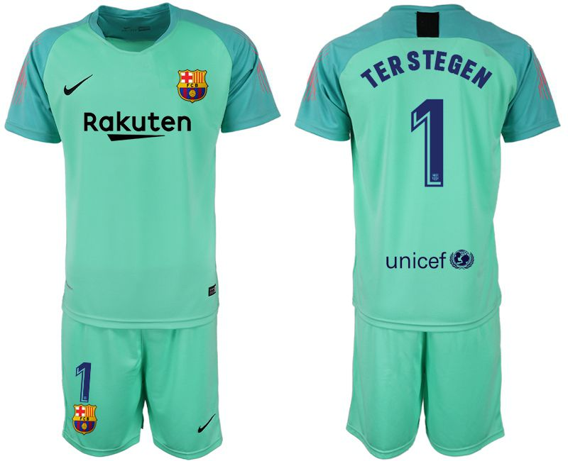 Men 2018-2019 club Barcelona Goalkeeper 1 green soccer jersey