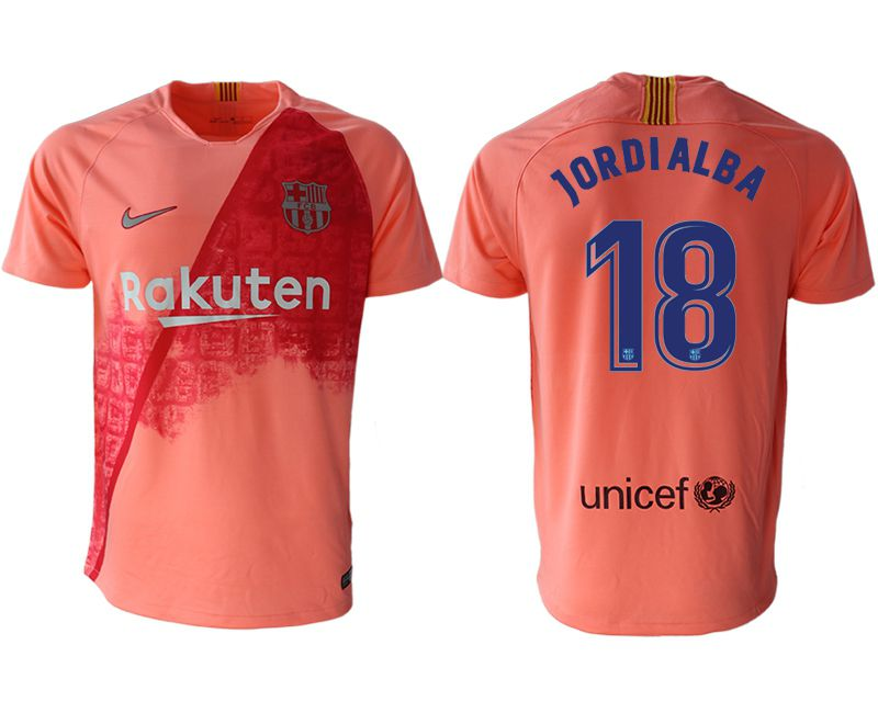 Men 2018-2019 club Barcelona Second away aaa version 18 pink Soccer Jerseys