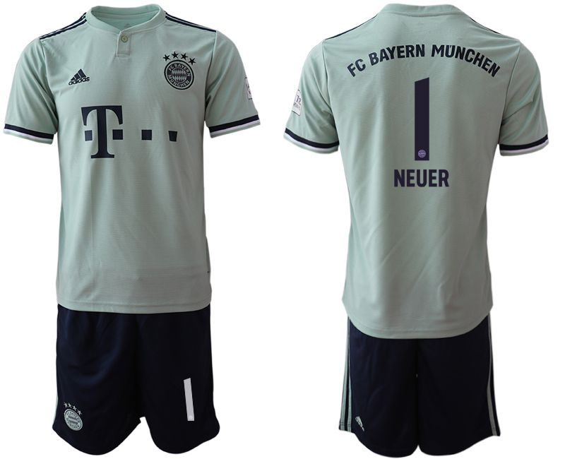 Men 2018-2019 club Bayern Munich away 1 grey Soccer Jerseys