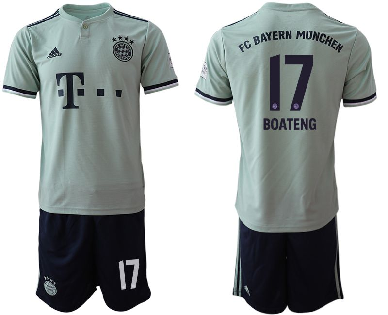 Men 2018-2019 club Bayern Munich away 17 grey Soccer Jerseys