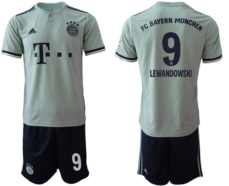 Men 2018-2019 club Bayern Munich away 9 grey Soccer Jerseys