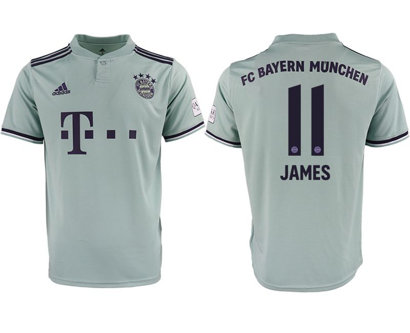 Men 2018-2019 club Bayern Munich away aaa version 11 grey Soccer Jerseys