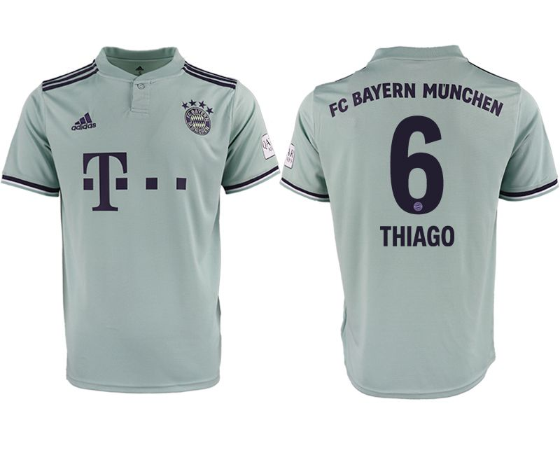 Men 2018-2019 club Bayern Munich away aaa version 6 grey Soccer Jerseys