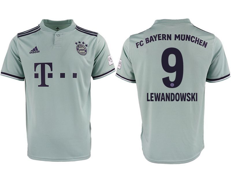 Men 2018-2019 club Bayern Munich away aaa version 9 grey Soccer Jerseys