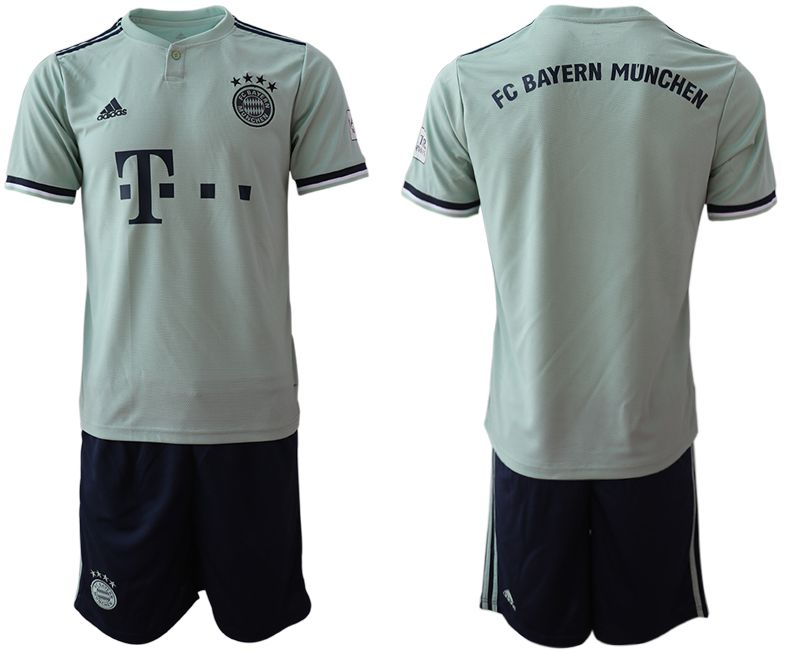 Men 2018-2019 club Bayern Munich away blank grey Soccer Jerseys