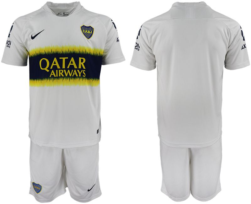 Men 2018-2019 club Boca Juniors away blank white soccer jersey