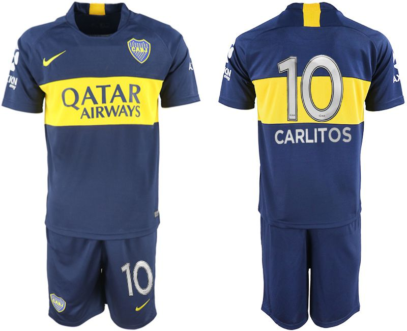 Men 2018-2019 club Boca Juniors home 10 blue soccer jersey