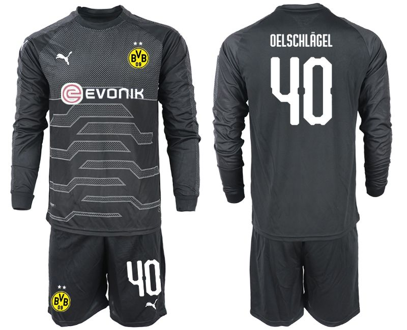 Men 2018-2019 club Borussia Dortmund Goalkeeper Long sleeve 40 black Soccer Jerseys
