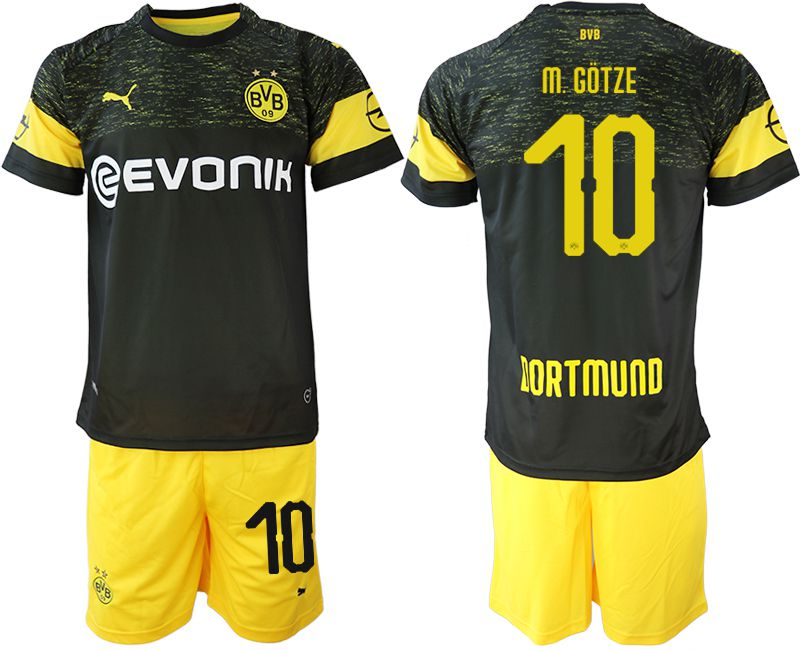 Men 2018-2019 club Borussia Dortmund away 10 black soccer jersey