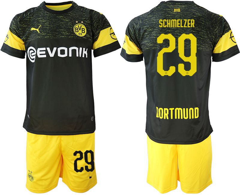 Men 2018-2019 club Borussia Dortmund away 29 black soccer jersey