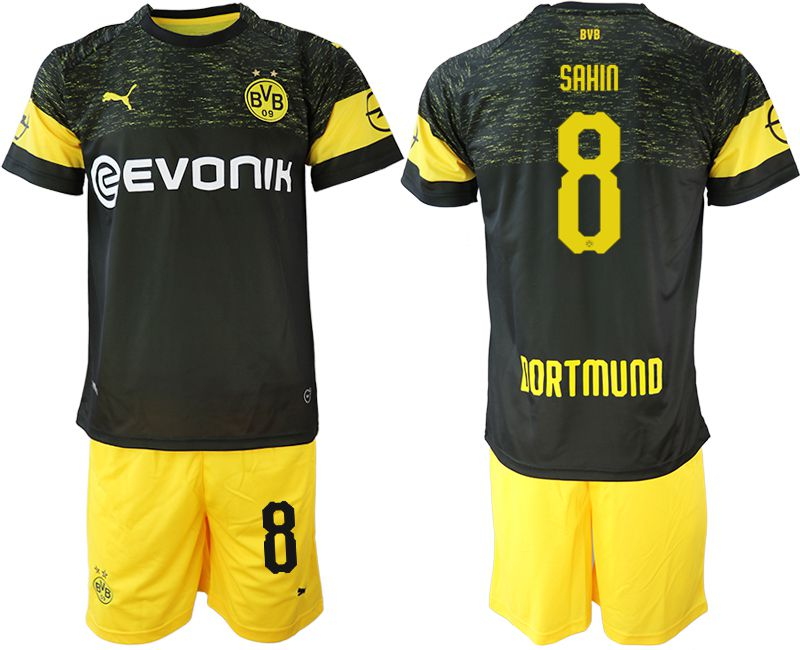 Men 2018-2019 club Borussia Dortmund away 8 black soccer jersey