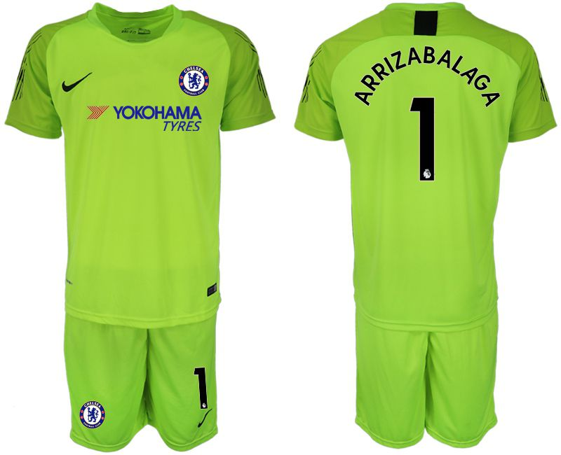 Men 2018-2019 club Chelsea Goalkeeper 1 Light green Soccer Jerseys
