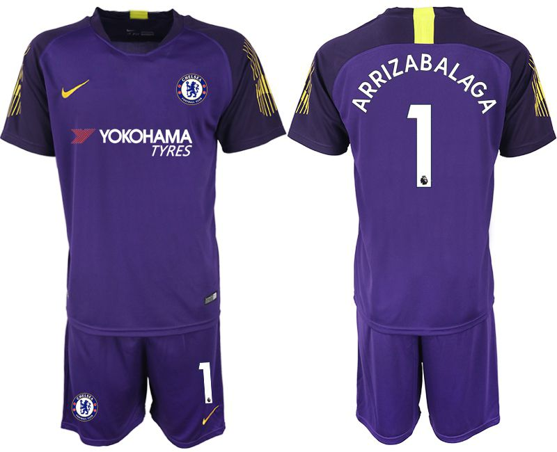 Men 2018-2019 club Chelsea Goalkeeper 1 purple Soccer Jerseys