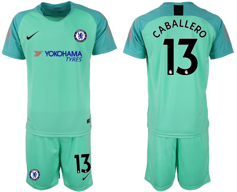 Men 2018-2019 club Chelsea Goalkeeper 13 green Soccer Jerseys