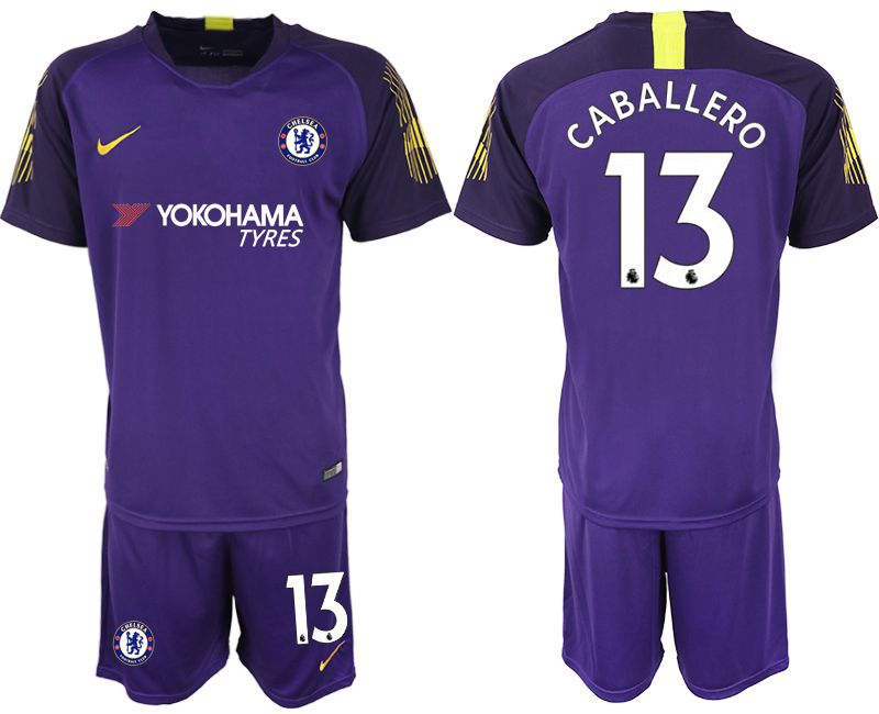 Men 2018-2019 club Chelsea Goalkeeper 13 purple Soccer Jerseys